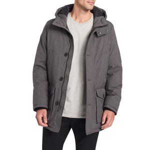 Dockers Hooded City Parka in Heather Charcoal L